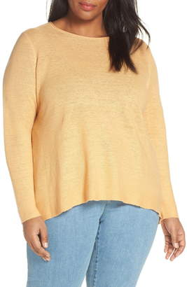 Eileen Fisher Round Neck Tunic Top (Plus Size)