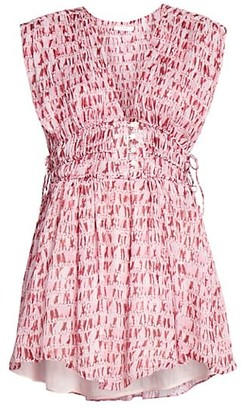 Etoile Isabel Marant Segun Printed Mini Dress