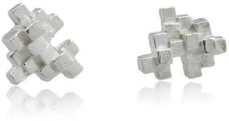 Karolina Bik Jewellery Tetris Earrings Silver