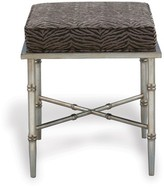 The Well Appointed House Doheny Silver Leaf Bench with Upholstered Top