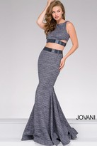 Jovani Glitter Jersey Two-Piece Prom Dress 47025