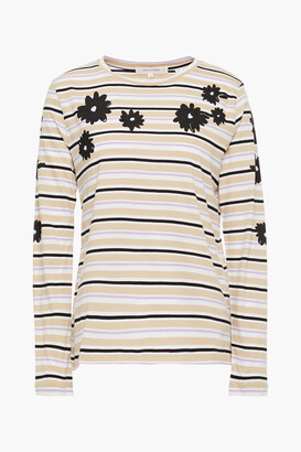 Chinti and Parker Printed Cotton-jersey Top
