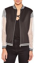 Missguided Women's Fishnet Bomber Jacket