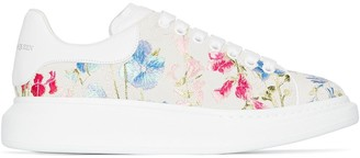 Alexander McQueen Embroidered Floral Oversize Sneakers