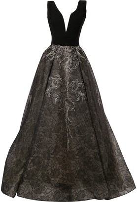 Saiid Kobeisy Sleeveless Flared Dress