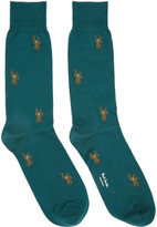 Paul Smith Green Monkey Socks