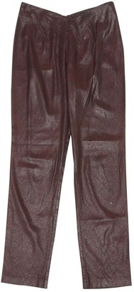Chalayan Red Synthetic Trousers