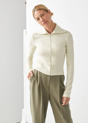 And other stories Merino Wool Zip Knit Cardigan