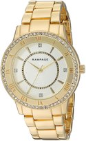 Rampage Women's 'Crystal Dial Band' Quartz Metal and Alloy Automatic Watch, Color:Gold-Toned (Model: RP1124GD)