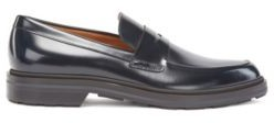 HUGO BOSS Loafers In Calf Leather With Penny Vamp - Dark Brown