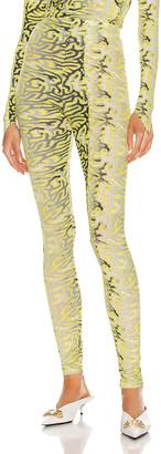 MAISIE WILEN Body Shop Legging in Planet Brain Yellow   FWRD
