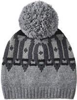 Joe Fresh Women's Metallic Fair Isle Knit Hat, Charcoal Mix (Size O/S)