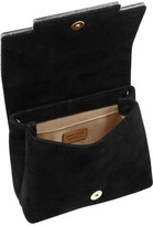 Jimmy Choo Cleo suede and glitter-finished acrylic shoulder bag