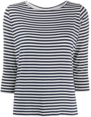 Majestic Filatures striped 3/4 sleeve T-shirt