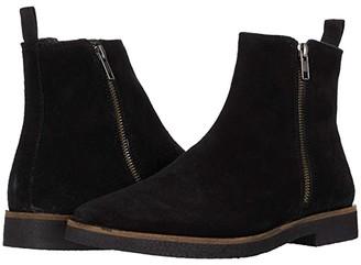 Walk London Hornchurch Zip Boot (Black Suede) Men's Boots