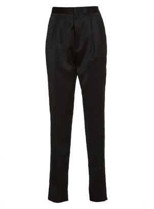 Saint Laurent High-waisted Silk Trousers
