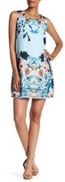 Sangria DBJVAVV Floral Printed Chiffon Sheath Dress