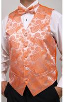 Ferrecci Men's Orange Four-piece Vest Set