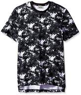 Kenneth Cole Reaction Men's Short Sleeve Palm Print Henley