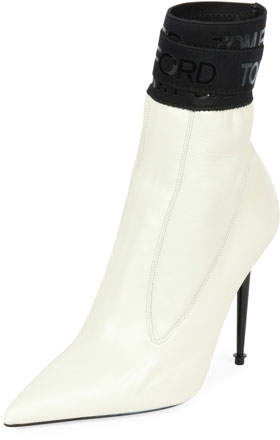 Tom Ford Smooth Bootie with TF Stretch-Trim