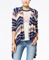 American Rag Striped Hoodie Cardigan, Only at Macy's