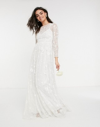 ASOS EDITION Ava all over embellished and embroidered wedding dress