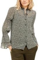 Michael Kors Michael Printed Bell-Sleeve Top