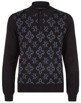 Billionaire Monogram Polo Sweater