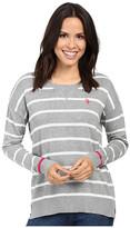 U.S. Polo Assn. Hi-Lo Hem Striped Pullover Sweater