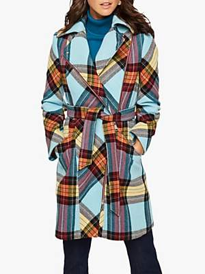 Damsel in a Dress Cariss Wool Blend Check Coat, Multi