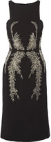 Antonio Berardi Embellished crepe dress