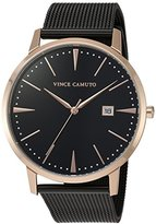 Vince Camuto Women's Quartz Stainless Steel Dress Watch, Color:Black (Model: VC/5300RGBK)