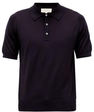 Studio Nicholson Arieta Tencel-blend Polo Shirt - Mens - Navy