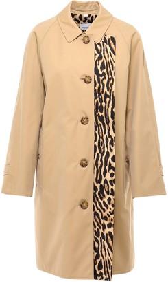 Burberry Leopard Printed Car Coat