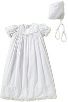 Feltman Brothers Baby Girls Newborn Lace-Detailed Smocked Christening Gown And Hat Set
