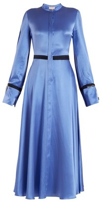 Roksanda Zaelie Silk-charmeuse Dress - Womens - Blue