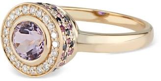 Black Diamond Ri Noor Diamond Pink Amethyst Purple Amethyst & Ring