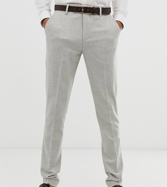 Asos Design DESIGN Tall skinny suit trouser in soft touch grey-Blue