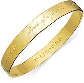 Kate Spade Bridesmaid Engraved Idiom Bangle Bracelet