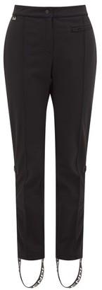 Fendi Roma Logo-stripe Stirrup Ski Trousers - Womens - Black