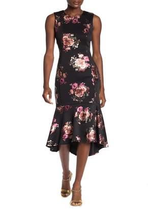 Bebe Floral Flounce Dress