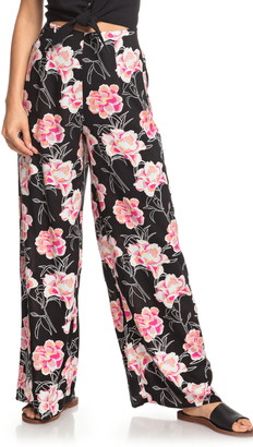 Roxy Beside Me Floral Wide Leg Pants