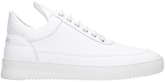 Filling Pieces Low Top Ripple Sneakers In White Leather