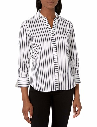 Foxcroft Women's Taylor Slim Stripe Non Iron Shirt