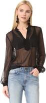 Diane von Furstenberg Long Sleeve Blouse