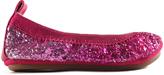 Yosi Samra Shocking Pink Sparkle Flat - Infant Toddler & Girls