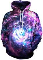 CHICOCO Unisex Galaxy Animal Digital Printed Winter Jogging Active Hoodies Outwear