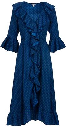 Felicity Dress- Royal Blue & Green