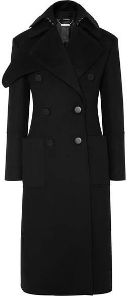 Alexander McQueen Layered Double-breasted Wool-felt Coat - Black