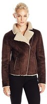 Velvet by Graham & Spencer Women's Sherpa Moto Jacket